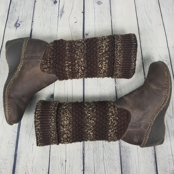 UGG   1938 Cresthaven wedge knit boots